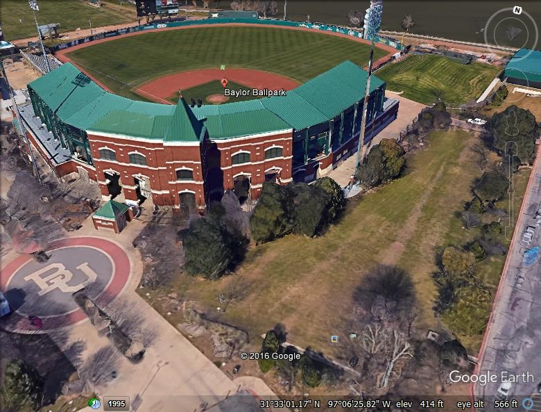Baylor Baseball Field - Architectural Standing Seam Metal & Modified Bitumen