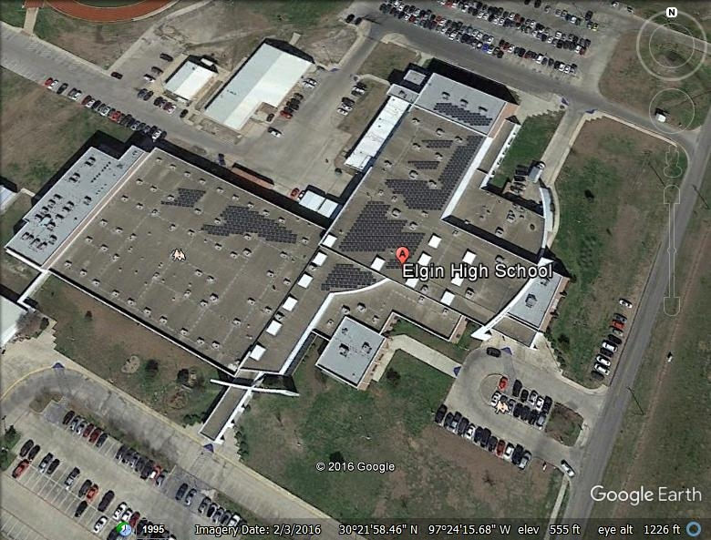 Elgin High School, Elgin Texas - Built-Up Asphalt Roofing